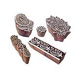 Royal Kraft Künstlerisch Muster Rand und Paisley Hölzern Drucken Blöcke (Set von 5)