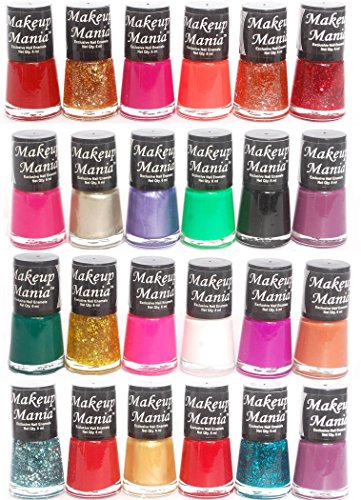 Makeup Mania Exclusive Nail Polish Set of 24 Pcs (Multicolor Set # 80, 82)