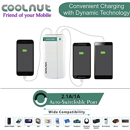 COOLNUT Power Bank for Mobile 20000 mAh