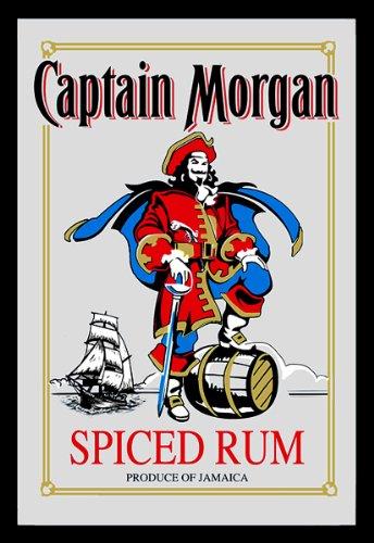 Captain Morgan Spiegel Rum Wandspiegel mit Schwarz