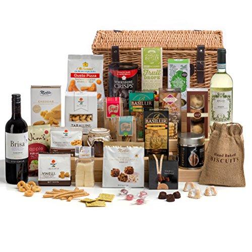 Hay Hampers Time for Wine Christmas Hamper Basket- FREE UK Delivery