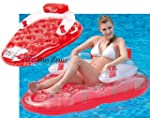 Inflatable Strawberry Lounger Pool Ch...