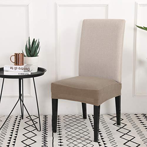 MAIAMY Stuhlabdeckung Minimalist Solid Color Esszimmer Büro Küche Elastic Spandex Anti-Schmutz Stuhl Sitz Schutzhülle