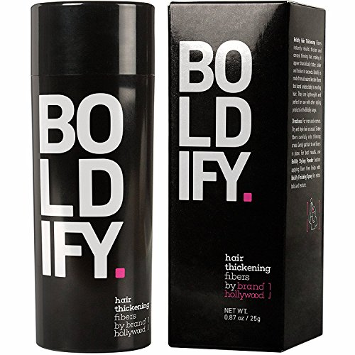 BOLDIFY Hair Fibers for Thinning Hair - 100% Undetectable Keratin Fibers - Giant 25g Bottle - Completely Conceals Hair Loss in 15 Seconds (LIGHT BROWN)