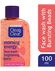 Clean and Clear Morning Energy Berry Face Wash, 100ml