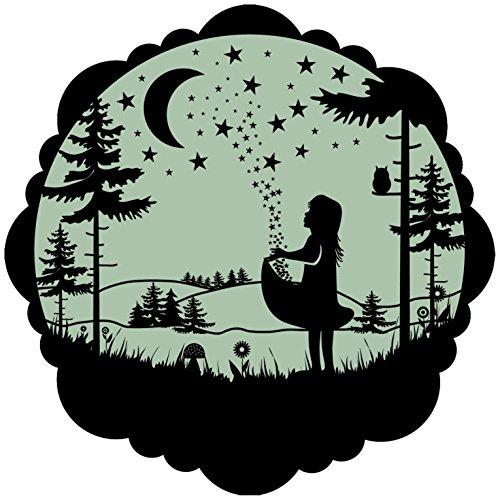 lumentics Märchenaufkleber Sterntaler - Im Dunkeln leuchtender Motiv-Aufkleber. Sticker mit angepasster Leuchtkraft für das Kinderzimmer. Größe: 30cm