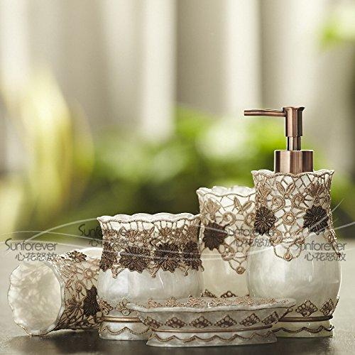 5 Pezzo di resina bagni American kit da toilette vanità