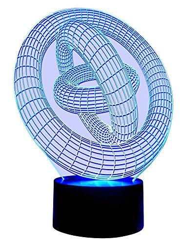 Lampe originale 3D LED Cercle Magique