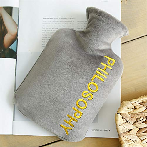 Wassergefüllte erwachsene explosionssichere personalisierte Wärmflasche, Mode Brief Plüschjacke, Winter Student Handwärmer Geschenk