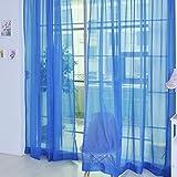 Be&xn Velato Velo Tenda Pannelli, 1 Coppia Semi Trasparenti Le Tende per Bambini in Camera roomliving Cucina -Blu Marino W100xH270cm(39x106inch)