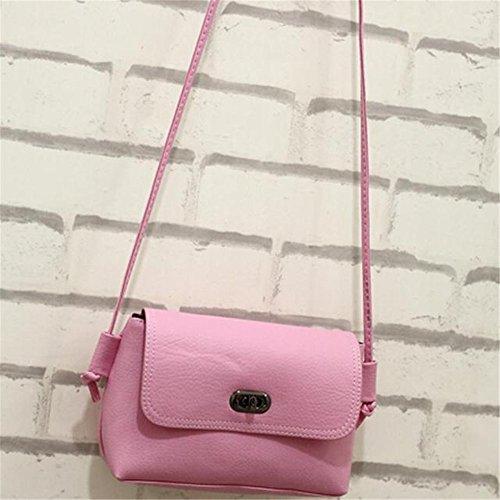Longra Donna Moda Wristlock Shoulder Bag Messenger Rosa