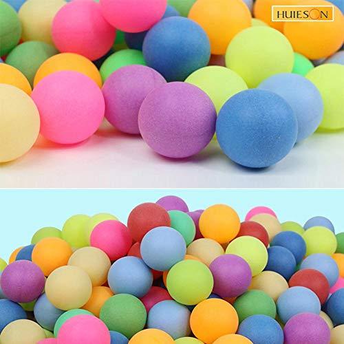 chinejaper Tischtennisbälle Spaß Bälle Farbige Ping Pong Ball PP Kunststoff Material 40mm 2,4g 100Stück