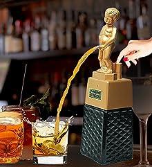 Bonny boy square golden liquor dispenser