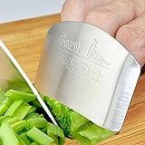 Edelstahl Fingerschutz Hand Finger Guard Ring Unterstützung sicher Slice Messer Küche Werkzeug von hinmay