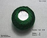 10 gr. Perlgarn, Stärke 8, Farbe: 218, Fabrikat: Anchor, Hardanger