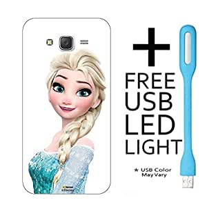 Hamee Disney Frozen Princess Licensed Hard Back Case Cover For iPhone Samsung Galaxy J5 - 2016 edition Cover with Free LED Light - Combo 10