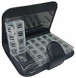 T-Pill - Libro - Portapillole Settimanale 28 Scomparti (5 Lingue)