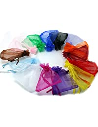 Generic Green : 80pcs/bag, 16 Colors Selection Jewelry Packaging Bags Drawable Organza Bags 13x18cm,Gift Bags...