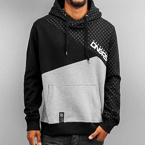 DNGRS Symbols Hoodie Herren Pullover Dangerous Kapuze Kängurutaschen Männer Sweatshirt Grau Schwarz DefShop S M L XL XXL Schwarz