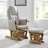 Tutti Bambini Deluxe gepolstert mit Glider Stuhl mit Fuß Hocker mit Standpositionen–Natur Holz-Rahmen, mit weicher Stoff