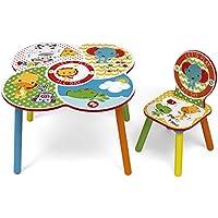 Preisvergleich für ROOM STUDIO fp10000Fisher Price Set Tisch/Stuhl Holz Weiß/Gelb 52x 60x 60cm
