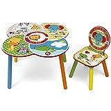 Room Studio fp10000Fisher Price Set di tavolo/sedia legno bianco/giallo 52x 60x 60cm