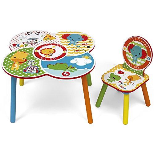 ROOM STUDIO fp10000Fisher Price Set Tisch/Stuhl Holz Weiß/Gelb 52x 60x 60cm