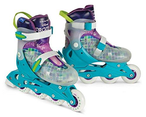Powerslide Disney Frozen Magic 2 in 1 Skate Rollschuh und Schlittschuh Kinder türkis-lila-weiß, 31-34