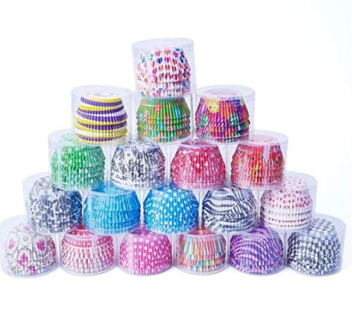 Home REPUBLIC-100 Pc Random 100 pcs Cupcake Liner Baking Cups Cupcake Mold Paper Muffin Cases Cake Decorating Tools Enjoy Shopping