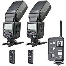 Godox V860C tt860C Kit de Flash para Canon con mejorado VB 18Li-Ion recargable, uno celdas Canon disparador, disparador de dos FTR-16S