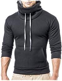 Herren Kaputzenpullover Hoodie Longsleeve Hoody Pullover T-Shirt