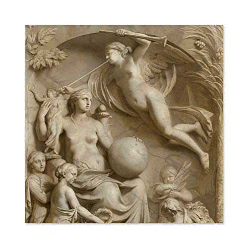De Lairesse Allegory of Fame Premium Wall Art Canvas Print 24X24 Inch Allegorie Wand