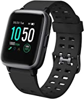 Willful Smartwatch Impermeable Reloj Inteligente con Pulsómetro, Pulsera Inteligente para Deporte con Cronómetro,...