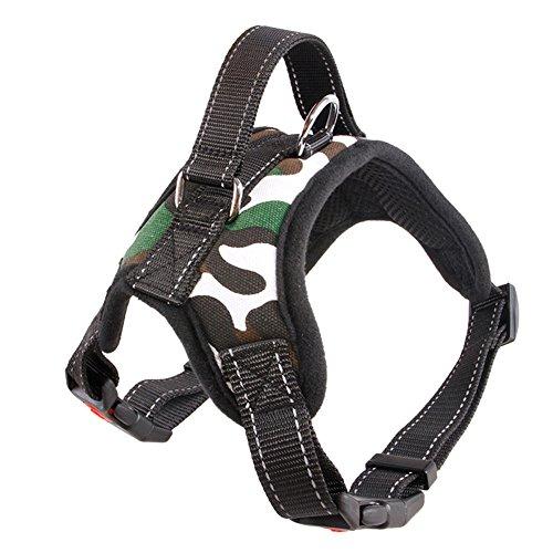 Wakerda Hundegeschirr, kein Ziehen, mit Griff, verstellbar, gepolstertes Hundegeschirr, komfortabel, für Hunde im Freien, zum Schutz beim Spazierengehen
