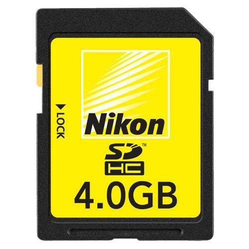 Nikon 4GB SD Card (SDHC) - Class 4 Nikon Digital Memory