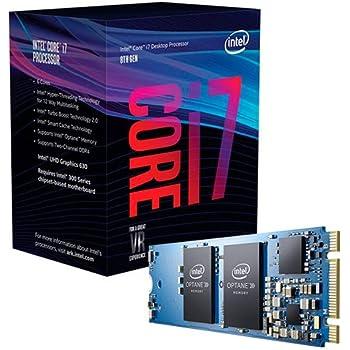 Intel Core i7-8700 - Procesador (3.2GHz, 12M, LGA1151, con optane Memoria 16GB) Color Azul