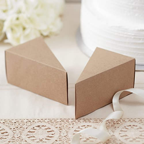 Ginger Ray Brown Kraft Vintage Wedding Cake Boxes Pack Of 10   Vintage  Affair