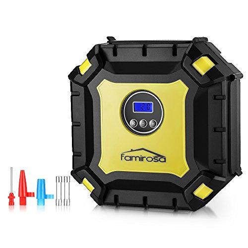 FAMIROSA Compressore Portatile per Auto, Mini Compressore Aria Portatile per 12V Materasso ad Aria, Veicoli, Bici