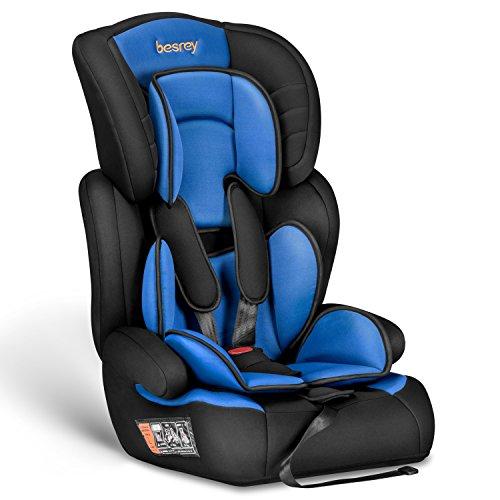 Besrey® Autokindersitz Autositz Kinderautositz 9-36 kg Gruppe 1 2 3 nach ECE R44/04 Schwarz & Blau