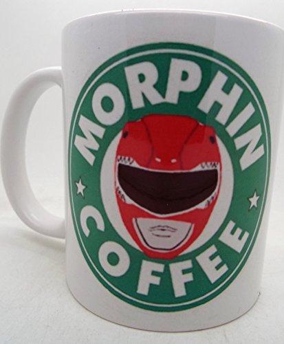 Morphin Power Rangers Starbucks Parody Mug