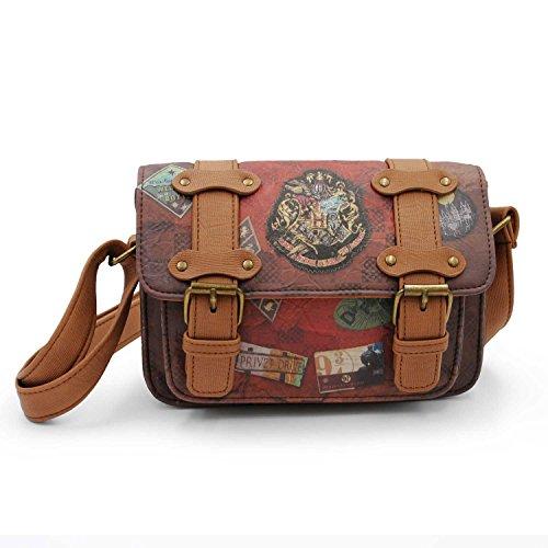 Karactermania Harry Potter Railway-Satchel Shoulder Bag Borsa Messenger, 20 cm, Marrone (Brown)