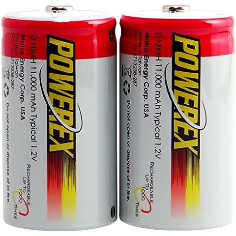 "Powerex-2 Batterie Ricaricabili Powerex Tipo ""D"", Nimh, 1,2 V, 11,000Mah."