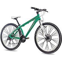 66.04 cm aduanas ALU MTB Mountain Bike bici de la suciedad chrisson Rubby unisex con 24 G SHIMANO 2 x disco verde mate