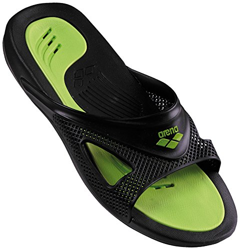 Arena hydrofit man hook - scarpe da spiaggia e piscina uomo, nero (black/black 056), 43 eu
