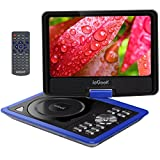 "ieGeek 11.5"" Portable DVD Player, 5 Hour Rechargeable Battery, 360°LCD Eye Protection Swivel Screen, Supports SD Card and USB, Play in Formats CD/VCD/MP3/AVI/JPEG/MPEG2, Blue"