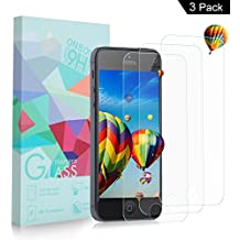 [3-Unidades] Protector de Pantalla iPhone 5S / SE / 5C / 5, ONSON® Cristal Vidrio Templado Premium Para Apple iPhone 5s / iPhone 5 / iPhone SE / iPhone 5C [9H Dureza][Alta Definicion 0.33mm]