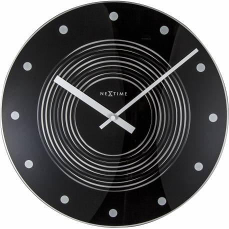 NeXtime Wanduhr Concentric, aus Glas, mit optischer Illusion, rund, ø 35 cm