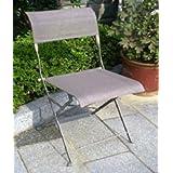 Chalet et Jardin 2 chaises Citadyne textilène gris