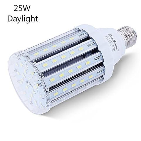 Ampoule Led Mais E27 25W Blanc Froid équivalent à 150-200W,Lampe Led 220V 2500LM 6000k Super Lumineux Lumière pour Lampe de Rue Garage Entrepôt Jardin Salon Cuisine Cour Angle de diffusion