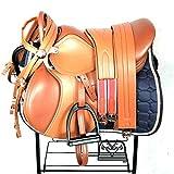 HHORD Choque Almohadilla del Asiento Absorbente para Western Saddles Único Arrugas, Una Silla Doble Cincha De La Silla, Una Silla Grande, Una Silla Viene con El Vientre Raíz, Pedal Cinturón, Faja